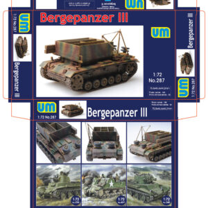 1:72 UM 287 Bergepanzer III armoured recovery vehicle UM 287