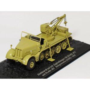 FAMO.Zugkraftwagen 18t (Sd.Kfz. 9/1).Drehkran 6t Auf sch. Zugkraftwagen(FAMO) 18t (Sd.Kfz. 9/1). Modely vojenské techniky a tanků. DeAgostini.Sběratelské.Hotové.Kovové.Diecast models military vehicles,tanks.