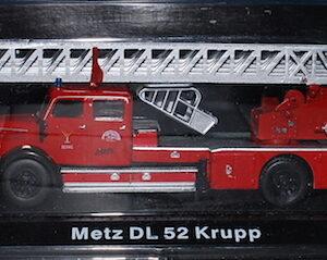 Metz DL 52 Krupp.Modely hasícských vozidel.Diecast models fire engine.Altaya MAG GZ11.Hotové modely.Sběratelské modely Kovové modely. Diecast models cars.fire engine.military vehicles.