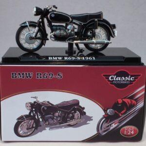 BMW R69-S.Motocykl.Motorbike.Modely motocyklů.Diecast motorbike models.Atlas Editions Classic Motorbikes .