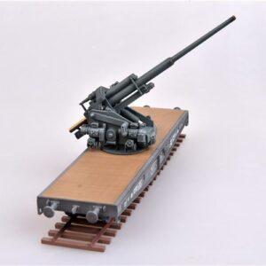 128mm Flak 40.Railway Car.Modely kanonu.Modely děl.Modely vojenské techniky.Diecast models guns.Modelcollect AS72116. Modely vojenské techniky.Diecast models military vehicles. Sběratelské modely. Hotové modely. Sběratelské modely tanků. Kovové modely.
