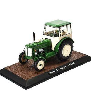 Zetor 50 Super Tractor.Sběratelské modely.Hotové modely.Diecast models traktors.Atlas Editions MAG JP06.