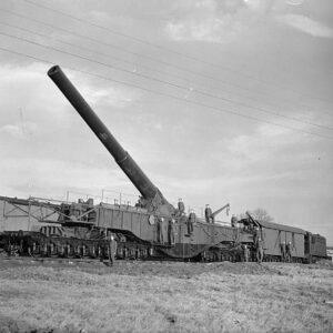 BL 18-inch Railway Howitzer (Gun) 'Boche Buster'.Oxford OR76BOOM03