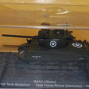 M4A3 (76mm) , 761st Tank Battalion Task Force Rhine (Germany) 1945.Modely tanků.Altaya MAG GJ99. Diecast models tanks. Modely vojenské techniky. Diecast models military vehicles, Modely aut. Diecast models cars. Modely letadel. Diecast models aircraft. Diecast models helicopters. Sběratelské modely. Hotové modely. Sběratelské modely tanků.. Kovové modely.