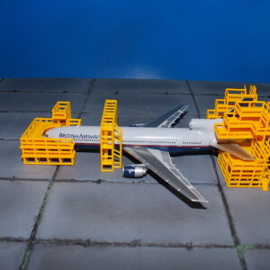 Aircraft Maintenance Scaffolding.Airport Service Support Vechicles.GSE.Ground Support Equipment.Set.Modely dopravních letadel.Diecast models airplanes.airliner.Gemini Jets GJAMS1828.