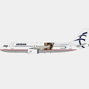 A320.Airbus A320.AEGEAN AIRLINES.Modely dopravních letadel.Diecast models airplanes.InFlight 200 IF320SXDVV. Modely letadel. Diecast models aircraft. Modely vrtulníků. Diecast models helicopters. Diecast models cars. Modely vojenské techniky. Diecast models military vehicles. Modely raket. Diecast models rockets. Sběratelské modely. Hotové modely. Sběratelské modely letadel. Kovové modely.