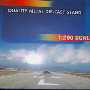 Inflight 200 IFSTDDC10.MCDONNELL DOUGLAS DC-10. 1/200 Stojánek.Display Metal Stand.Modely dopravních letadel.Diecast models airplanes.airliner.