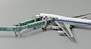 Airport GSE.Ground Support Equipment.Set.Airport Passenger Bridge.Modely dopravních letadel.Diecast models airplanes.airliner.JC Wings JC-LH4134.