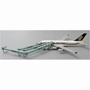 Airport GSE.Ground Support Equipment.Set.Airport Passenger Bridge Airbus A380 Aircraft.Modely dopravních letadel.Diecast models airplanes.airliner.JC Wings JC-LH4136.