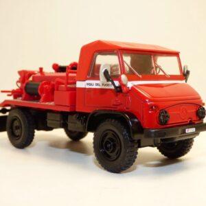 UNIMOG.Mercedes-Benz Unimog 404.Modely hasícských vozidel.Diecast models fire engine.Atlas Editions MAG JF13.