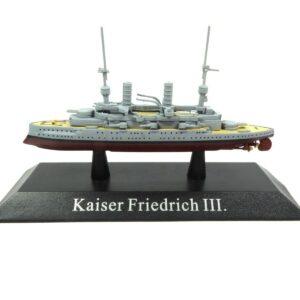 KAISER Friedrich III class Battleship 1912.Modely bitevních lodí.Sběratelské Kovové modely lodí.Diecast models ships.Atlas Editions MAG KZ41.