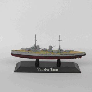 VON DER TANN Battle cruiser 1910.Modely bitevních lodí.Sběratelské Kovové modely lodí.Diecast models ships.Atlas Editions MAG KZ44.