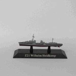 Z21 Heidkamp Welhelm.Type 36.Destroyer 1943.Modely bitevních lodí.Sběratelské Kovové modely lodí.Diecast models ships.Atlas Editions MAG KZ44.