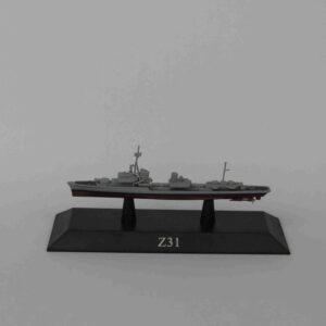 Z1 (Type 119) Destroyer 1942.Modely bitevních lodí.Sběratelské Kovové modely lodí.Diecast models ships.DeAgostini MAG KZ64.