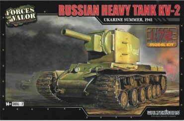 KV–2 Heavy Tank.Modely tanků.Plastic kit.Forces of Valor UN-873003.