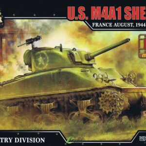 M4A1 Sherman Medium Tank.Modely tanků.Plastic kit.