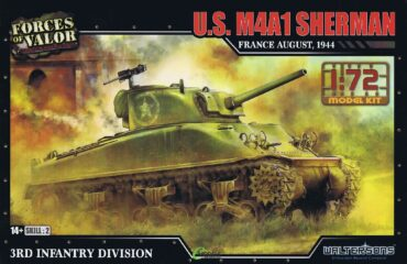 M4A1 Sherman Medium Tank.Modely tanků.Plastic kit.