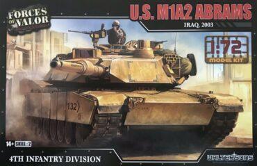 M1 Abrams Tank.M1 Abrams Main Battle Tank.Modely tanků.Plastic kit.Forces of Valor UN-873005A.