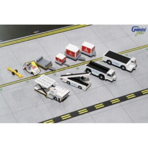 Airport.Service Support VehiclesGSE.Ground Support Equipment.Set.Emirates.Modely dopravních letadel.Diecast models airplanes.airliner.Gemini Jets G2UAE639.