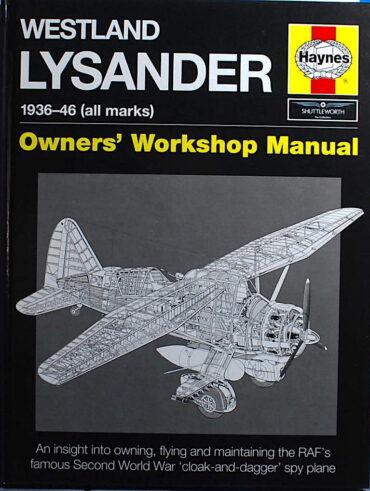 Westland Lysander Manual