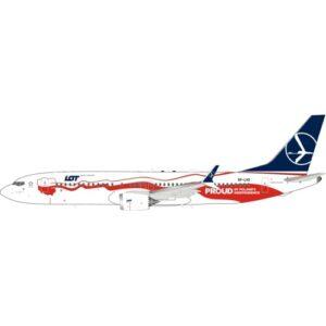 B737.Boeing 737 MAX 8.Boeing.Modely dopravnich letadel.Diecast models aircraft. InFlight 200 IF737MAXLOT02.