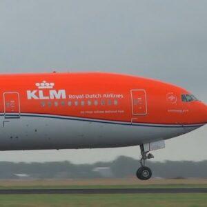 Boeing B777 -300ER , 'PH-BVA' KLM Royal Dutch Airlines ORANGE PRIDE with '100 years'.JC Wings JC-XX2321.