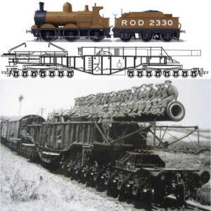 BL 18-inch Railway Howitzer (Gun) 'Boche Buster' + Rod 2330 Lokomotiv.Oxford OR76BOOM01.