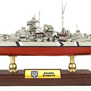 Bismark Battleship German.Modely bitevních lodí.Sběratelské Kovové modely lodí.Diecast models ships.Forces of Valor UN- 861006A.