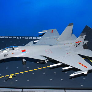 Shenyang J-15 Flying Shark ( Su-33 Flanker-X2 ), '105' PLA NAVY , Aircraft Carrier Liaoning + Carrier Deck -Diorama.Air Force1 AF1-0055A.