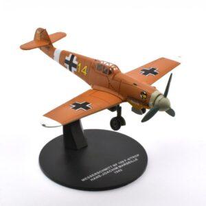 Me 109.Messerschmitt Bf 109 F-4/TROP.Modely letadel.Diecast models aircraft.Atlas Fighters of WWII 08.