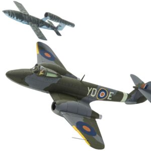 "Gloster Meteor.Fieseler Fi 103R Reichenberg.""Doodlebug"".Flying Bomb.Modely letadel.Diecast models aircraft.Corgi AA27403."