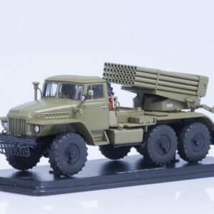 BM-21 Grad Multiple Rocket Launcher.URAL-375.Modely vojenské techniky.Diecast models military vehicles.Start Scale Models SSM1187.