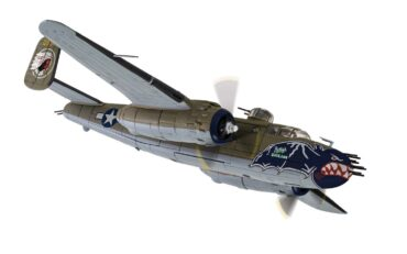 "B-25J Mitchell North American , '0984' ""Betty's Dream"" 499th BS 345th Bombardment Group AIR APACHES"" USAAF , Le Shima Okinawa 1945.Corgi AA35314."