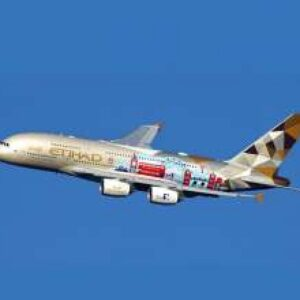 "Airbus A380-800 , 'A6-APC' Etihad Airways ""Choose the United Kingdom"" .JC Wings JC-XX2424."