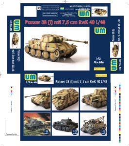 UM-486 -Panzer38(t) mit 7.5 cm KwK 40L/48