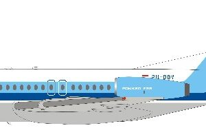 Fokker F28 -4000 Fellowship , 'PH-BBV' NLM CityHopper - Dutch Aviation Company.Inflight 200 IF28NLM0220.