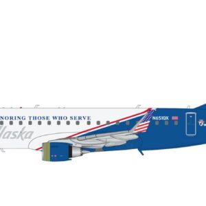 "Embraer ERJ175 , 'N651QX ' Alaska Airlines ""Honoring Those Who Serve"".Gemini Jets G2ASA886."