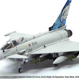 Eurofighter EF-2000 Typhoon , '36-40' 351st.Flight XII Sqn. (Gruppo) Italian Air Force (Aeronautica Militare) , NATO Tiger Meet 2018.JC Wings JCW-72-2000-005.