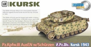 Pz.Kpfw. III Ausf.N (w/Schurzen),Pz.Rgt.3 , 2.Pz.Div. , Kursk 1943.Dragon Armor DR 60614.