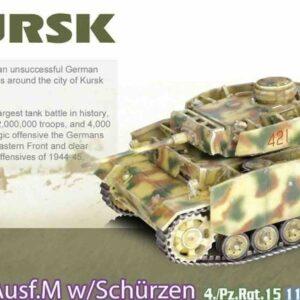 Pz.Kpfw. III Ausf.M (w/Schurzen) , 4./Pz.Rgt.15 11th Panzer Div. Wehrmacht , Kursk USSR 1943.Dragon Armor DR 60623.