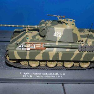Pz.Kpfw.V Panther (Sd.Kfz. 171 Ausf.D ) , 19th Panzer Div. Wehrmacht , Poland-October 1944.Altaya ALT04.