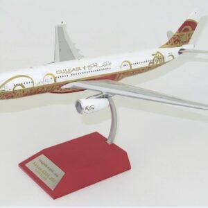 """Airbus A330-200 , 'A40-KF' Gulf Air """"50th Anniversary"""".InFlight 200 B-330-GA001."""