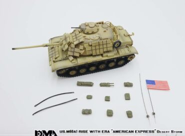 "M60A1 Main Battle Tank w/reactive armor , ""AMERICAN EXPRESS"" USMC 'Operation Desert Storm'.PMA P0335."