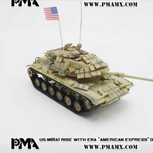 "M60A1 Main Battle Tank w/reactive armor , ""AMERICAN EXPRESS"" USMC 'Operation Desert Storm'.PMA P0335."