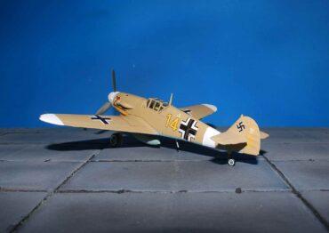 """Messerschmitt Bf 109 G-2 (Trop) , '14' Hans Joachim Marseille 3./JG27 (Jagdgeschwader 27 """"Afrika"""") , Quotaifiya Egypt , 30th September 1942.Corgi AA27109."""