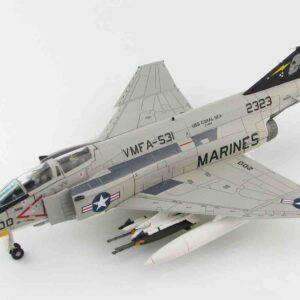 "McDonnell Douglas F-4N Phantom II , '152323' VMFA-531 ""Grey Ghosts"" USMC , USS Coral Sea.Hobby Master HA19014."