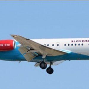 Fokker 100 , 'OM-BYB' Slovak Government Flying Service Slovenská republika.JC Wings JC- LH2241.