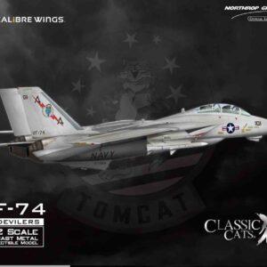 "Grumman F-14A Tomcat , '162707' VF-74 ""Be-Devilers"", USS Saratoga, 1987.Calibre Wings CA721410-W."
