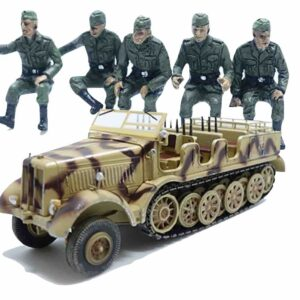 PMA P0317S - SET SD.KFZ.8 SCHWERER ZUGKRAFTWAGEN 12T + German Vehicle Riders