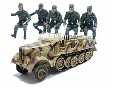 PMA P0317S - SET SD.KFZ.8 SCHWERER ZUGKRAFTWAGEN 12T + German Vehicle Riders